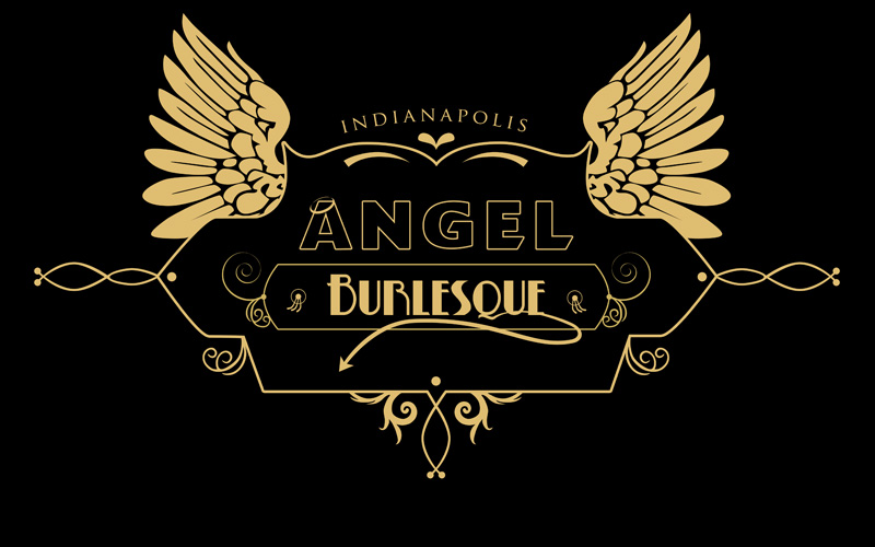 Home angel burlesque Angel logo design