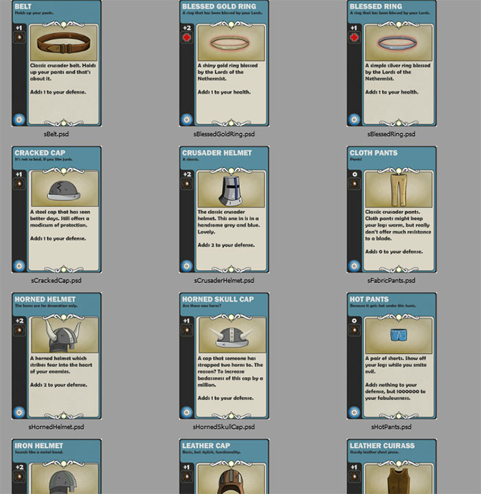 Card Dungeon Armor Cards