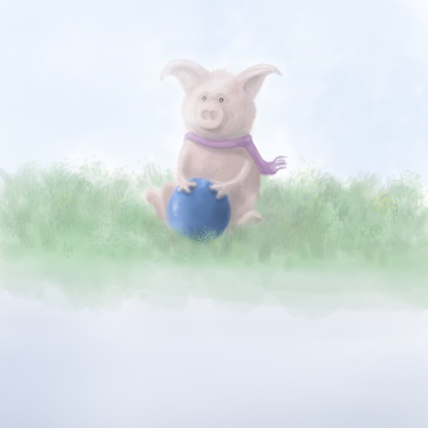 Finished pig illustration