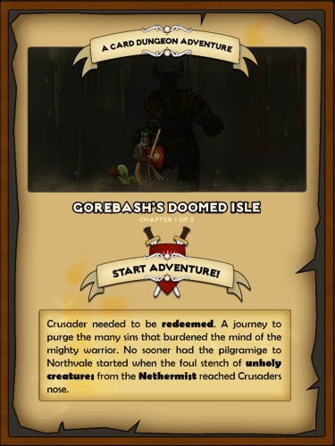 Sheet to show what the dungeon is about and progress story.