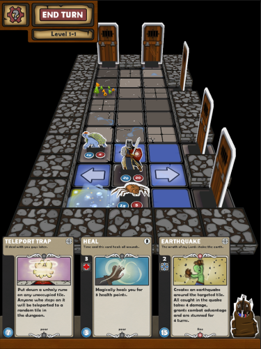 In game UI. Tap any cards to enlarge