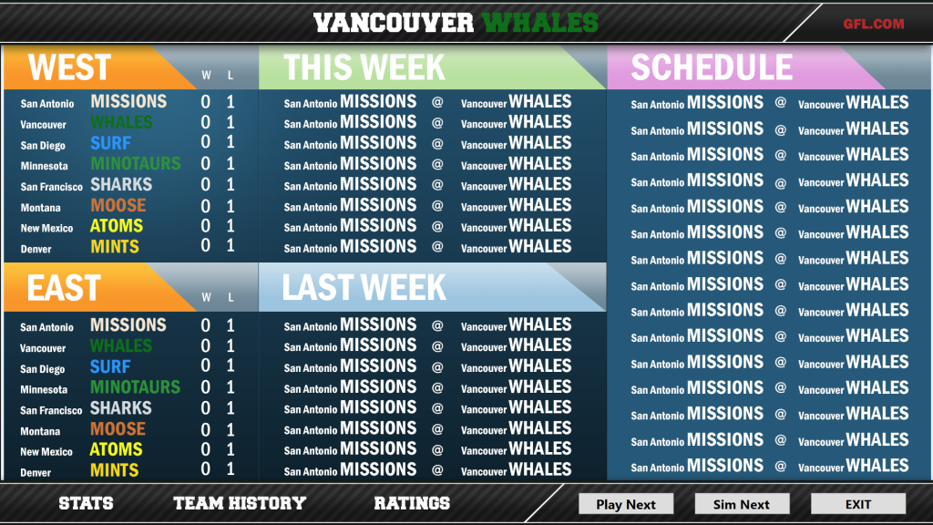 leagueStarted screen v3